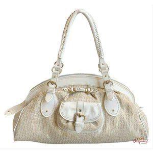 Authentic Christian Dior Logos Tote Bag 01-RU-0097